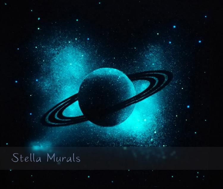 Solar System Nebulae Glow in the Dark Stickers comets and stars Galaxies