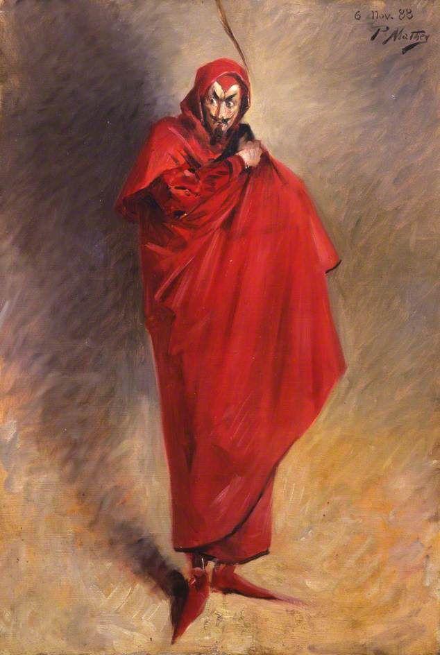 Portrait of an Unidentified Man as Mephistopheles by Paul Mathey | Culture  art, Art, Art uk
