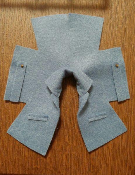 オビツ11用フェルトコート型紙 - そらとびえいの空中散歩 #bonecas