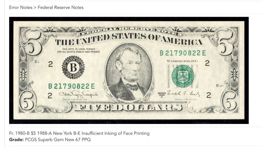 $5 1988A Federal Reserve Note