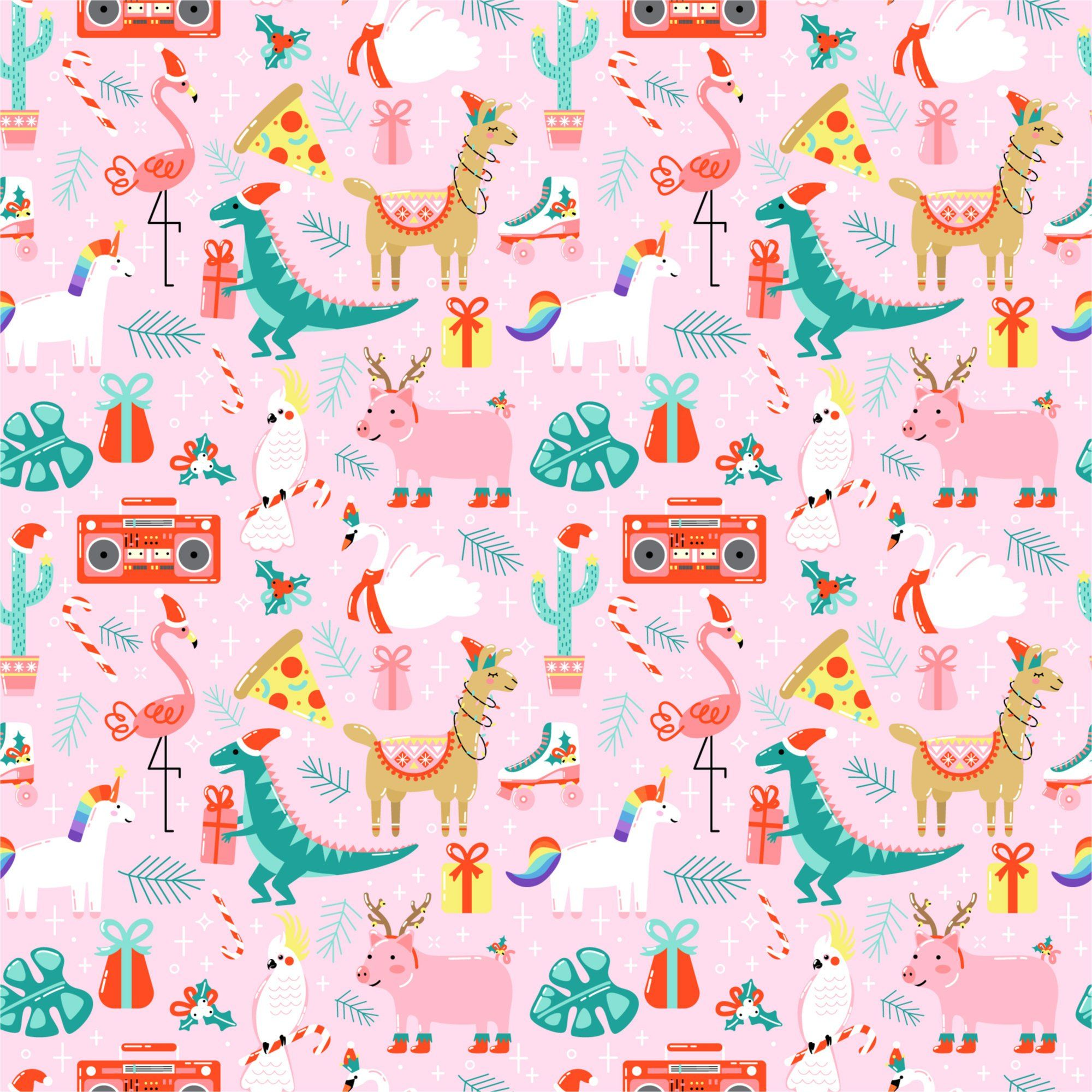 Wrapping Paper Crazy Pink Christmas By Urbanpapernv On Etsy Pink Christmas Wrapping Paper Pink Christmas Gifts Pink Christmas Background