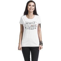 Photo of Stranger Things Alphabet Damen-T-Shirt – weiß – Offizieller & Lizenzierter Fanartikel