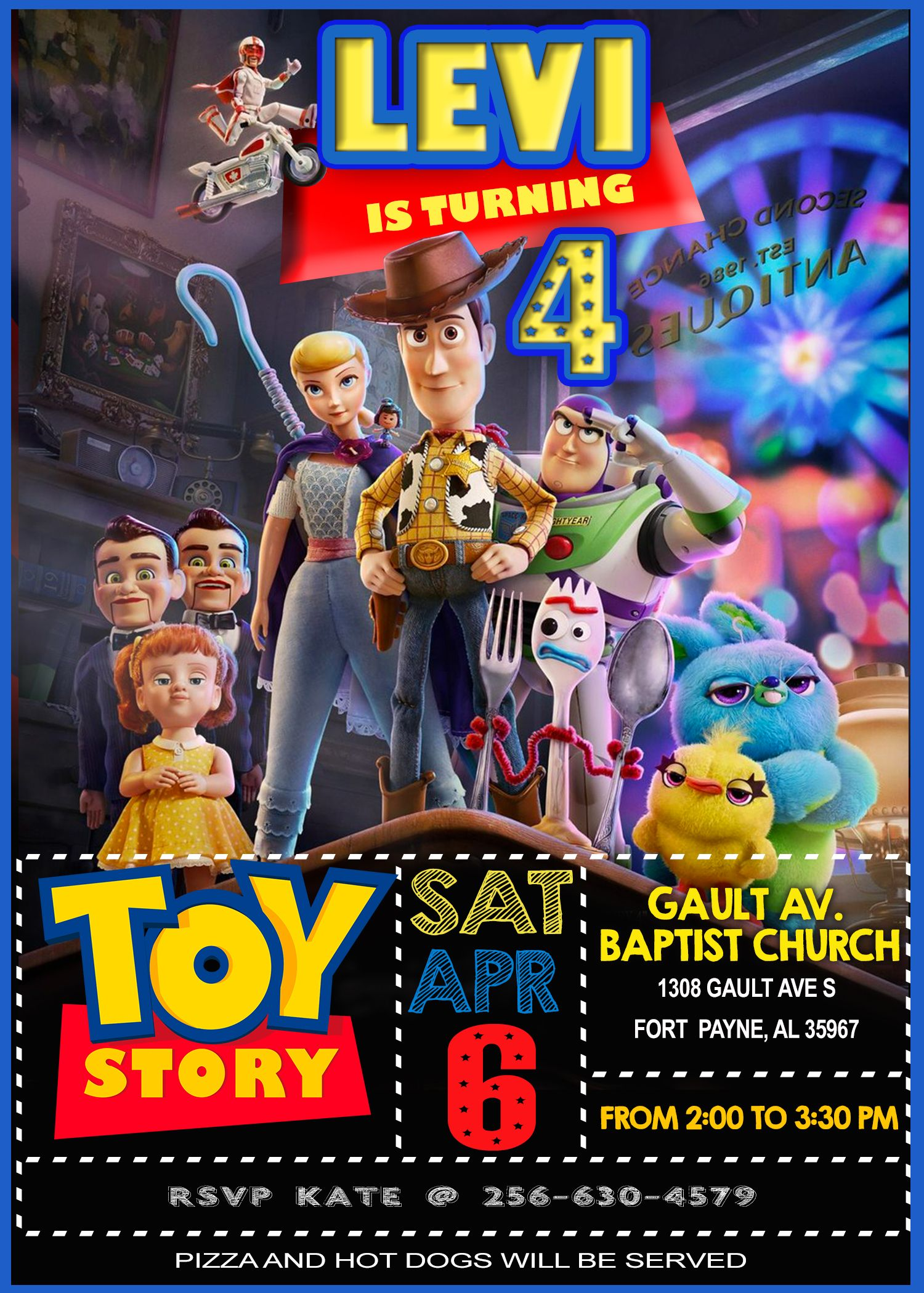 amazing toy story invitation forky and