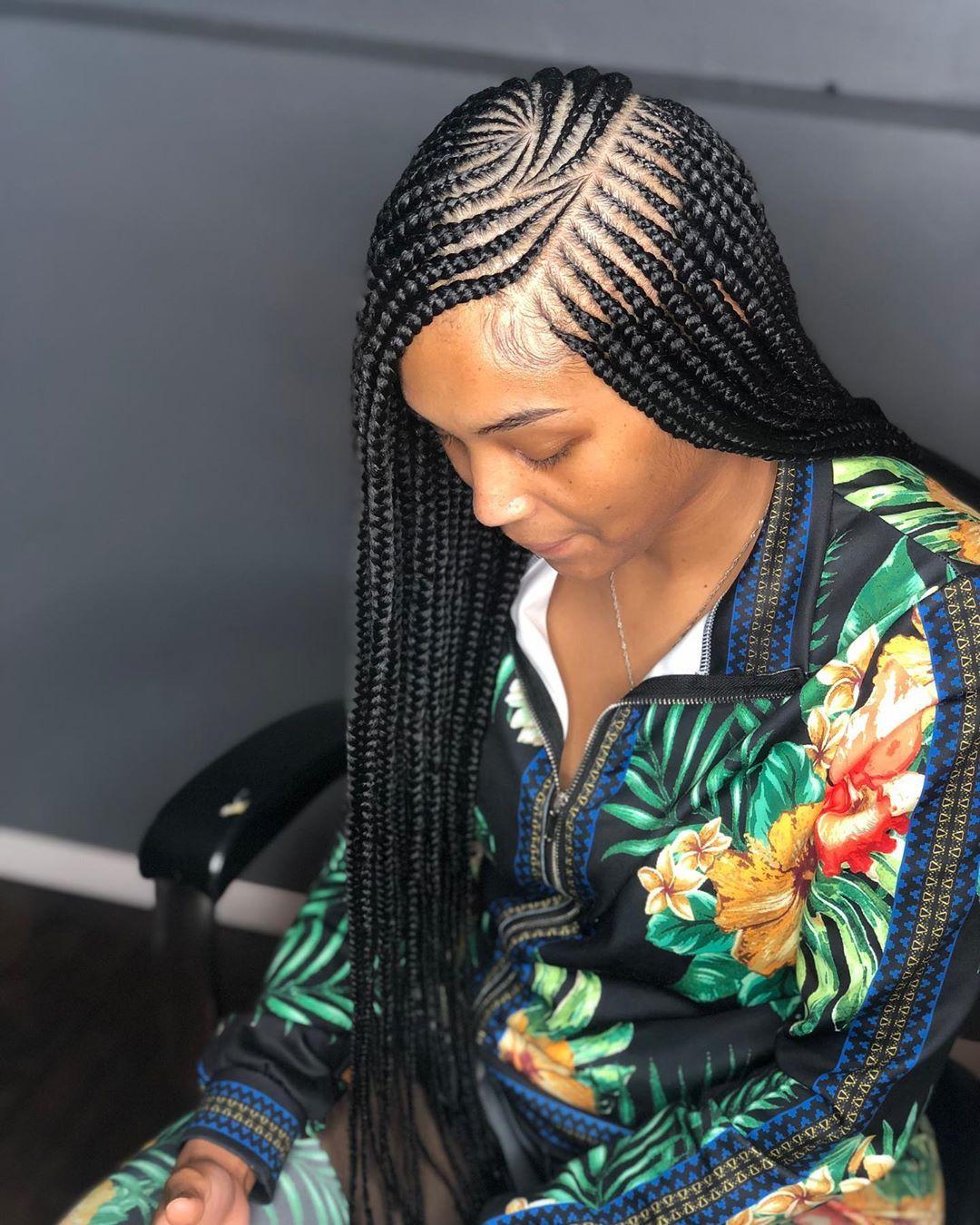 40+ Side part braids ideas in 2021
