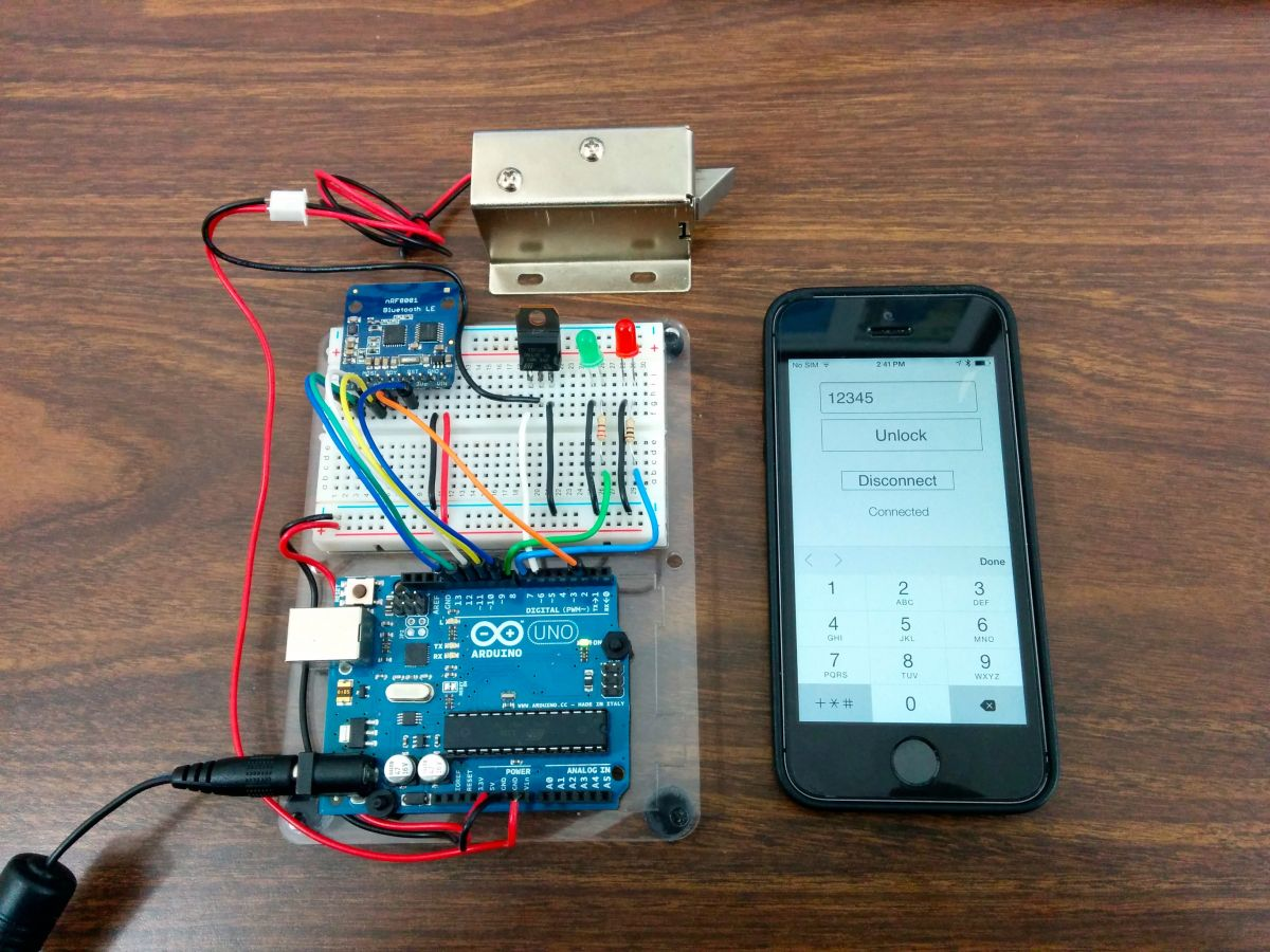 Controlling A Lock With An Arduino And Bluetooth Le  -8469