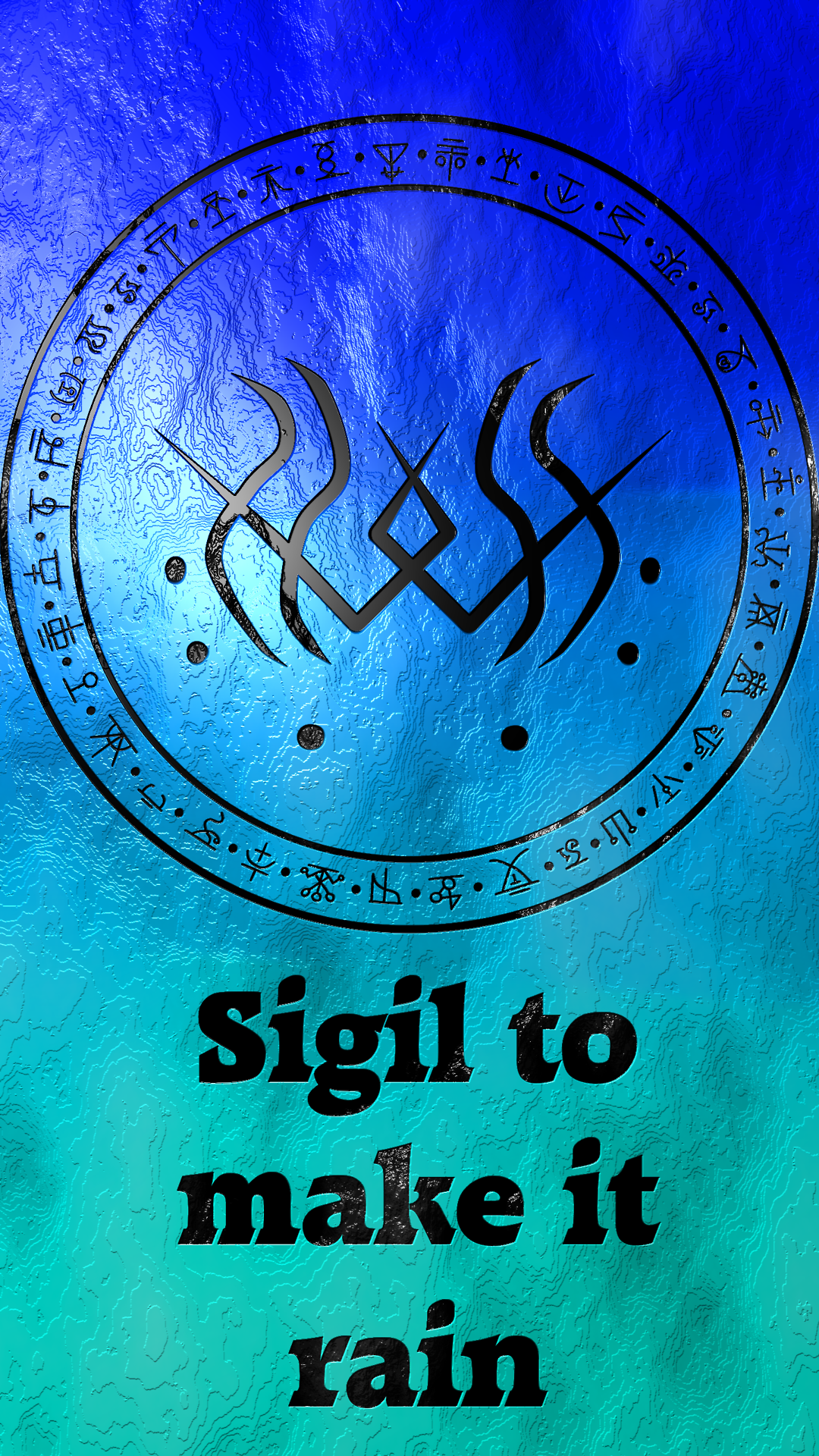 Sigil to make it rain Requested by @thamasterpuhii   BECOME ...