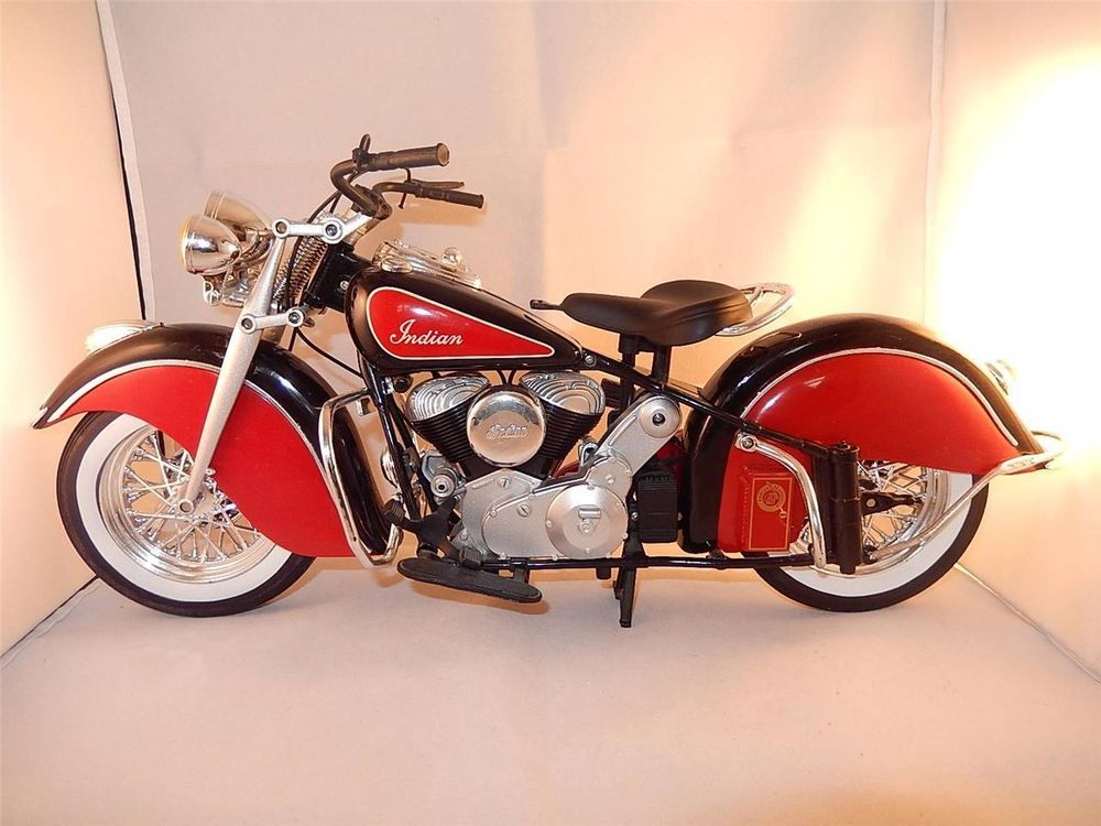Vintage Indian Motorcycle Model 16 Scale 16X 7 inches