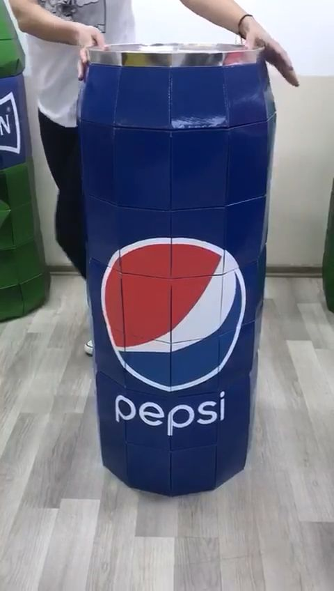 Instant merchandising for CPG.   One-piece fold up display. Reusable 100x.   Light weight to place on displays, hang from ceiling over displays. #popupdisplay #beveragedisplay #pos #pointofsale #ifold #displaydesign