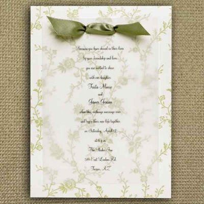 Invitation Idea Use Sheet Music And Print Lettering On Tissue Paper Tie With Ribbon