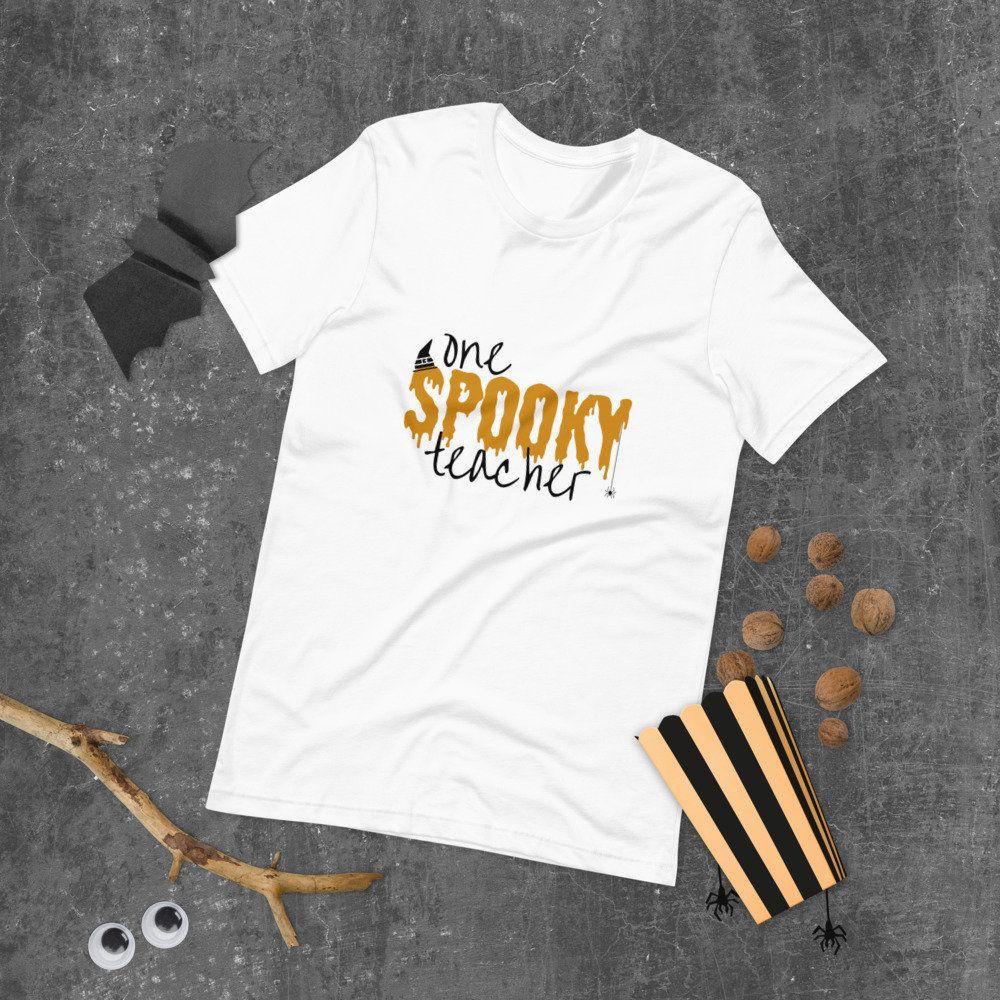 Halloween Teachers Shirt - Spooky Teacher - Fall Gift For Teacher - Halloween Costume - Spooky - Short-Sleeve Unisex T-Shirt