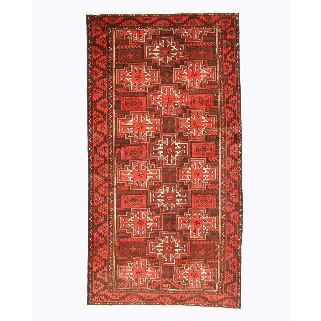 Eastern Rugs Baluchi Hand-Knotted Brown Rug