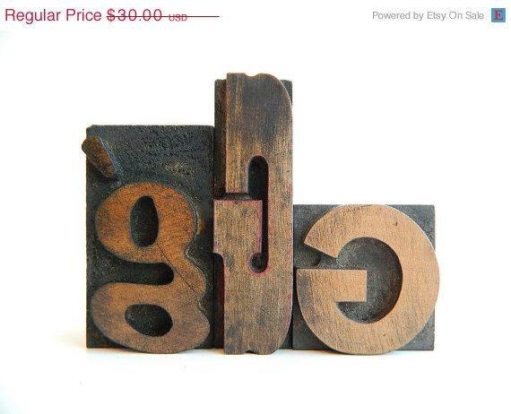 Letterpress 'G's from etsy