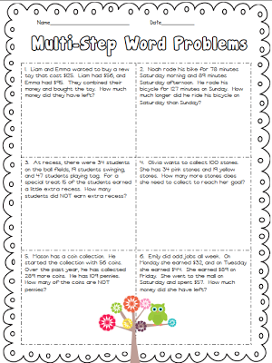 Worksheets Multi Step Word Problems 5th Grade 1000 images about multi step word problems on pinterest constructed response activities and problem solving