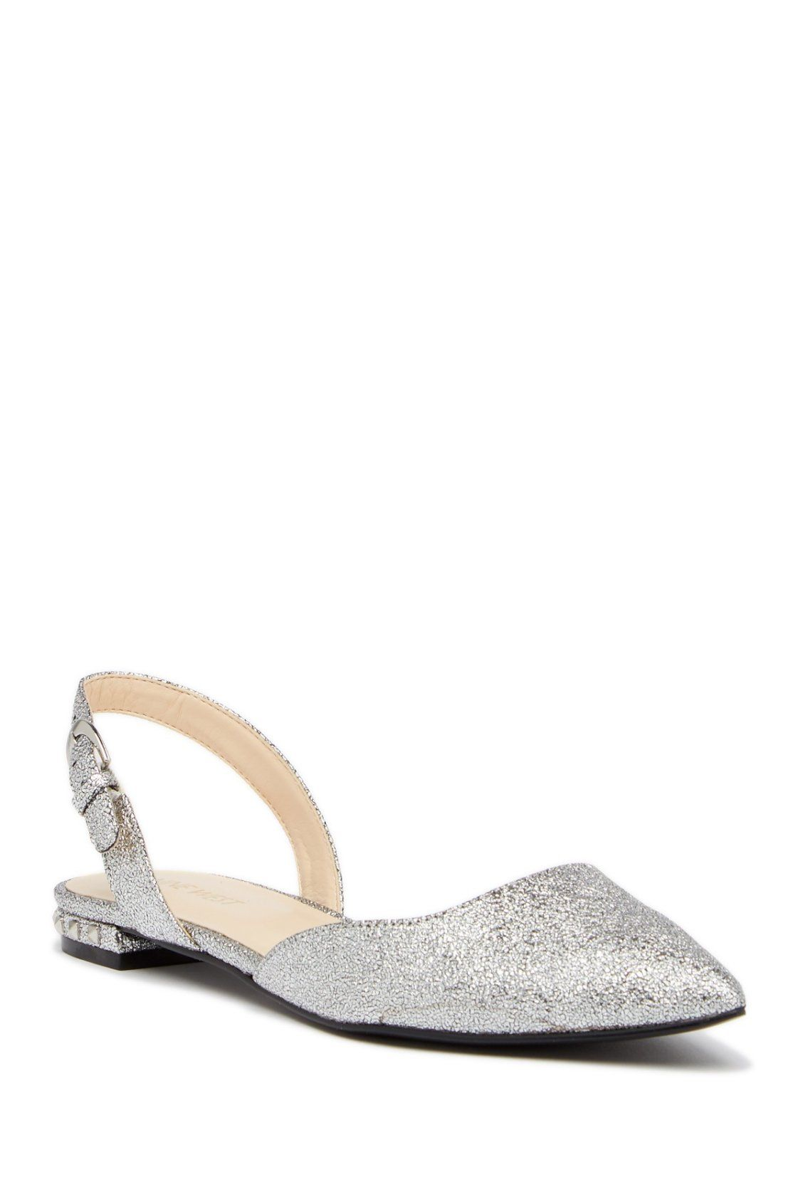 Stand Out In These Silver Nine West Althoff Slingback Flats Slingback Flats Slingback Flats