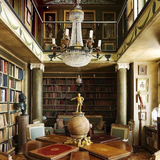 French chateau library - Jacques Garcia