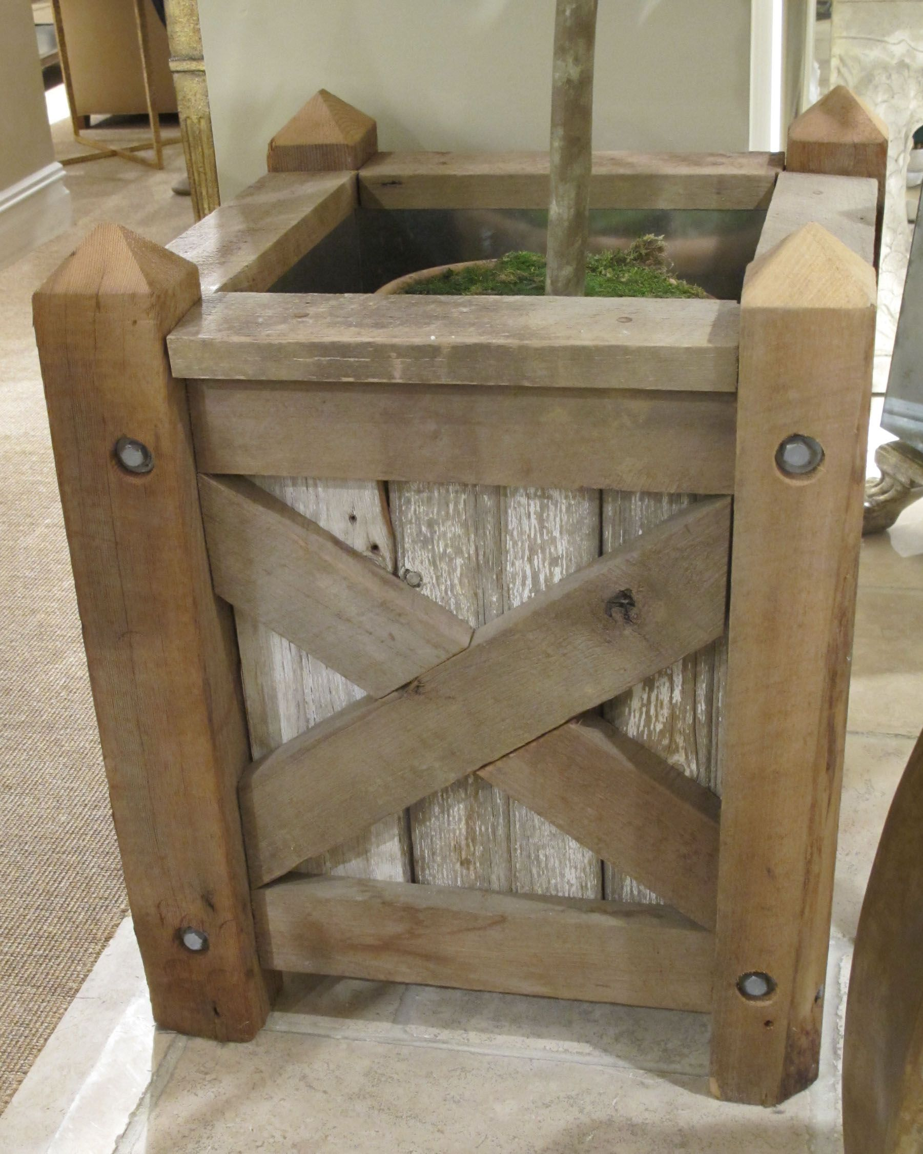 Rustic Version Of Classic Tree Planter From Century 400 x 300