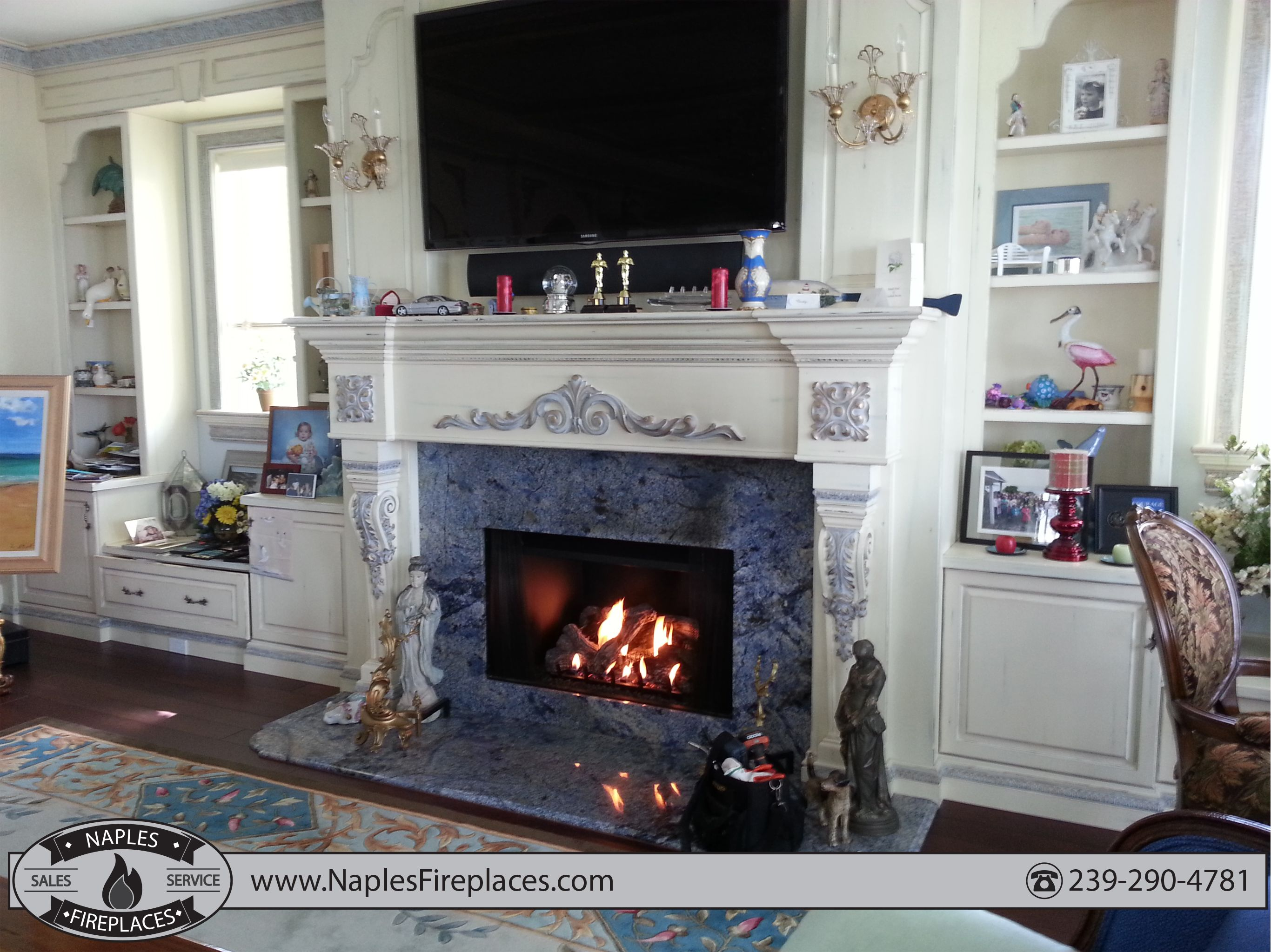 Custom Gas Fireplace Naples Fl Indoor Fireplace Fireplace