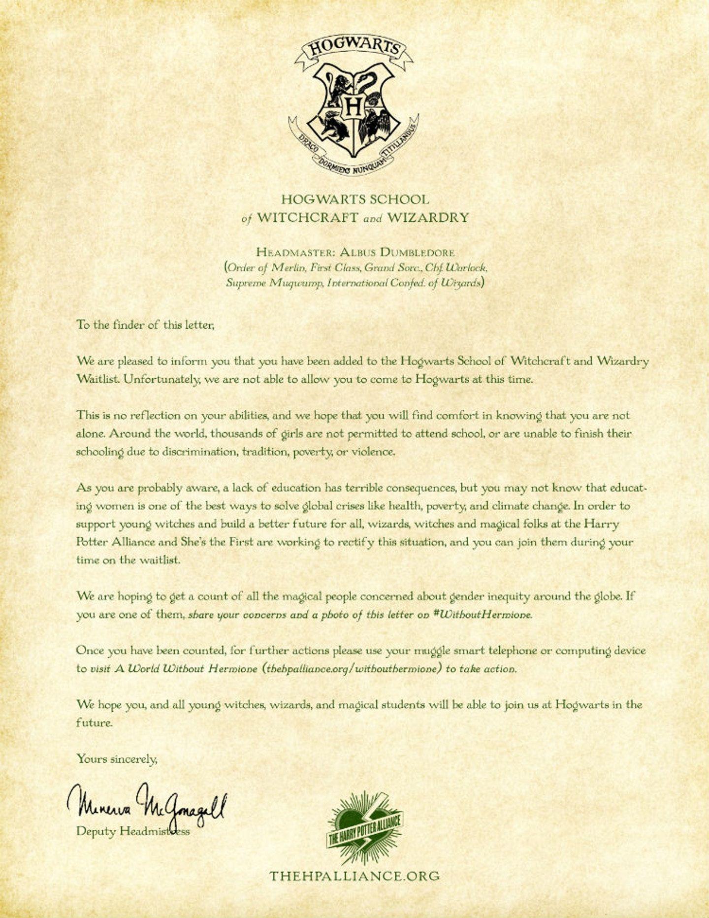harry potter letter template  This depressing Hogwarts acceptance letter is going viral ...