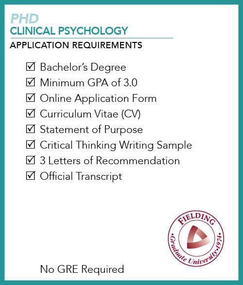 PhD in Human Development Application Requirements Checklist - statement form