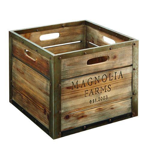 Magnolia Home Furniture Wood Storage Crate | House #2 | Pinterest | Storage  Crates, Wood Storage And Magnolia