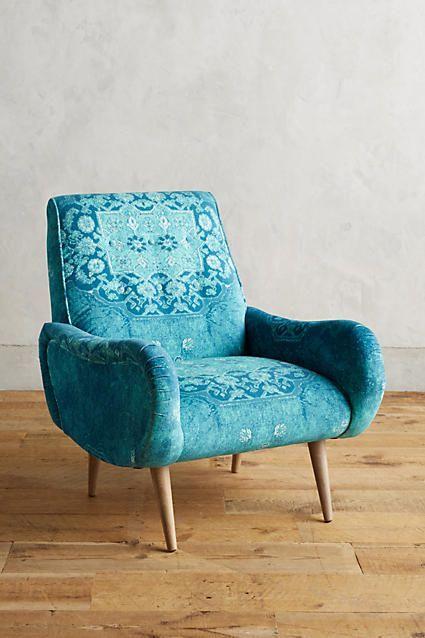 Rug Printed Losange Chair Vintage Chairs Unique Chair Armchair