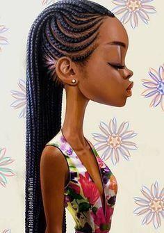 Tresse africaine natte collé Types de coiffures