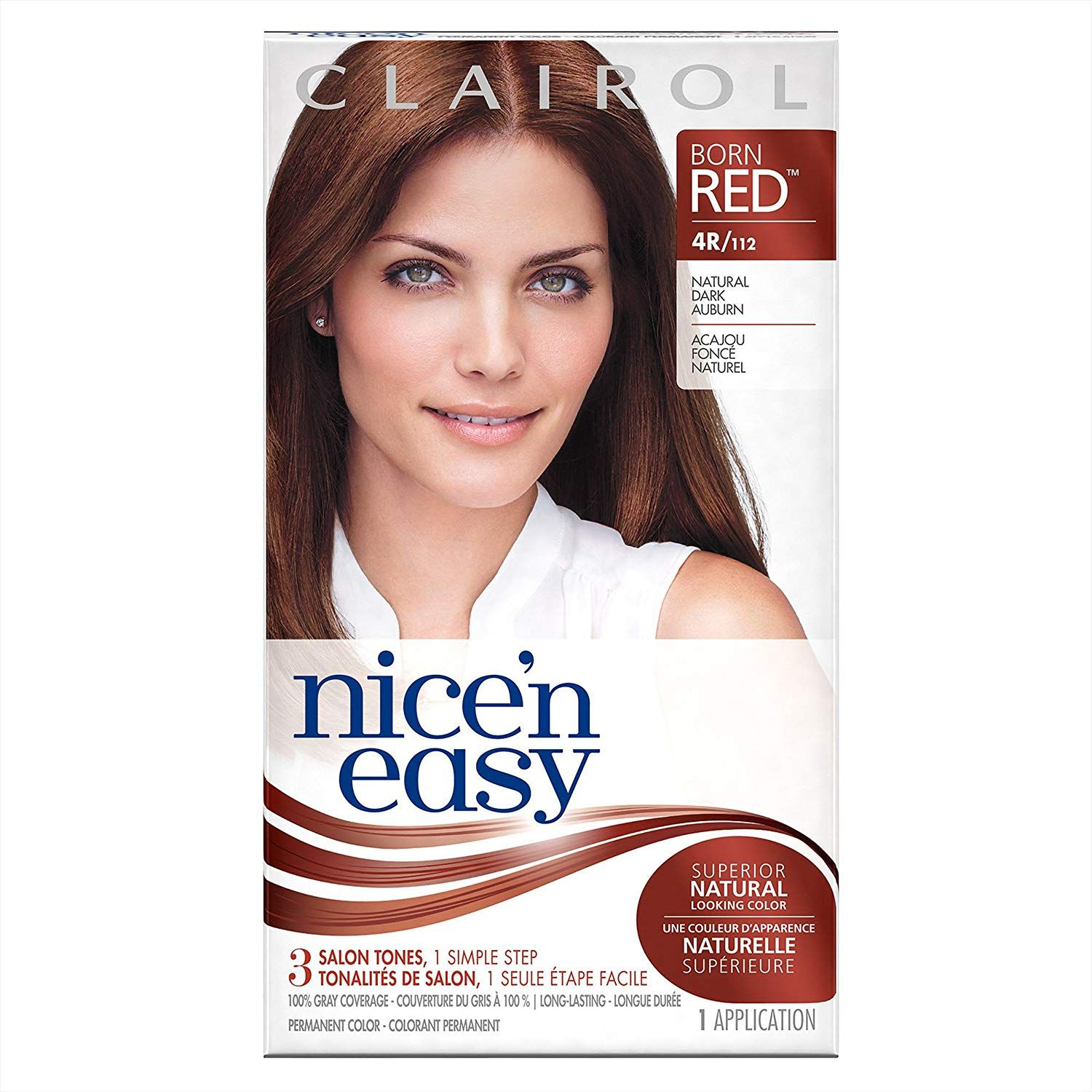 Clairol Nice N Easy Permanent Hair Color Kit 112 4r Dark Auburn