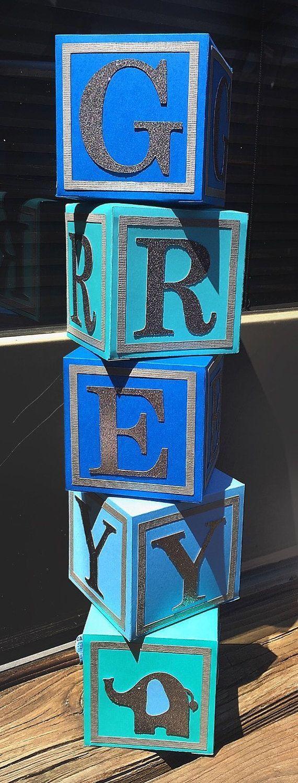 Alphabet Blocks Baby Shower Centerpiece Nursery Blocks