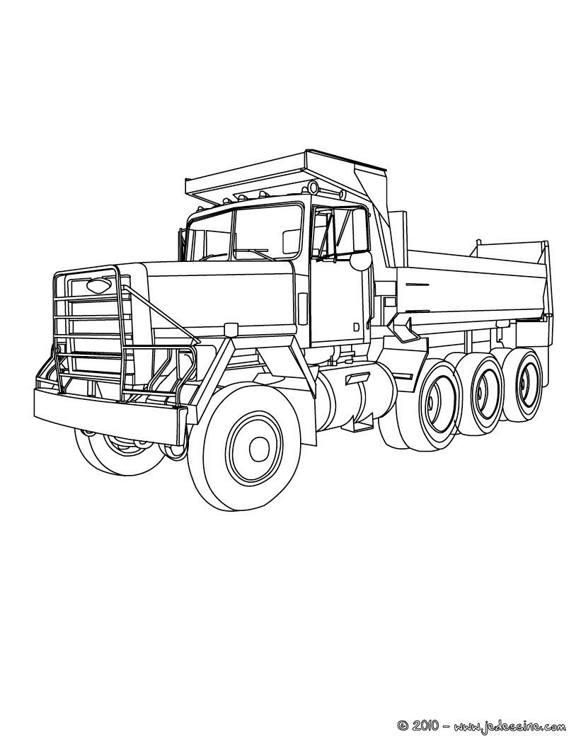 Coloriage Gratuit Camion Benne.Camion Truck Coloriage Gratuit Engin De Travail Wooden Toys