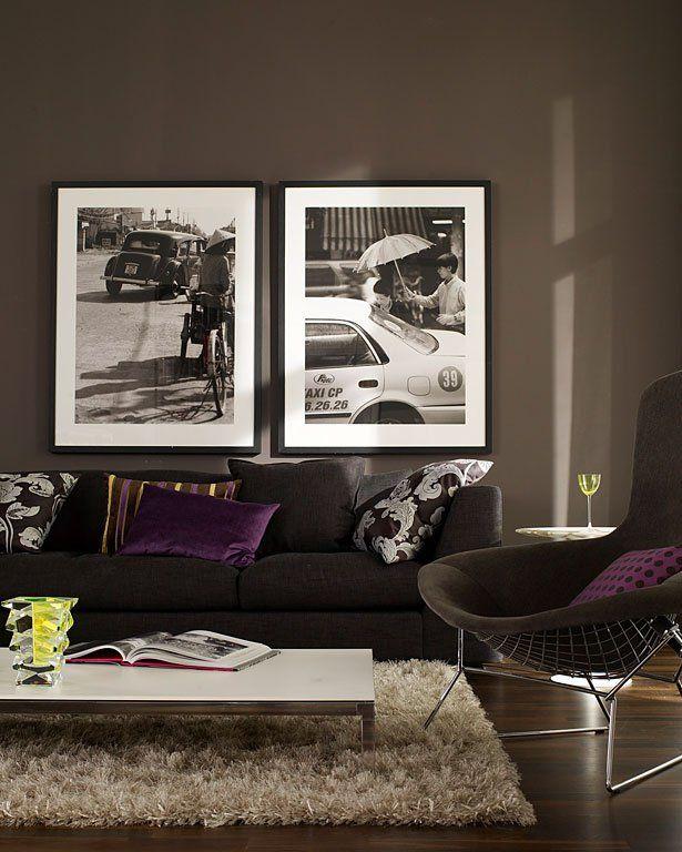 Wandfarben - 15 Profi-Tipps fürs Streichen dunkler Wandfarben - wohnzimmer braun streichen