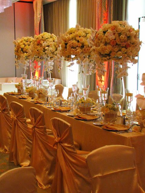 White And Gold Wedding Head Table Indian Wedding Planner White