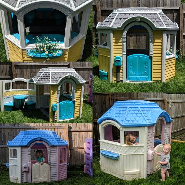 Completed Playhouse Makeover Play Houses Remodel Victorian