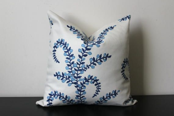 Decorative Pillow Prasana in Bluebell by JuliaSherryHome on Etsy