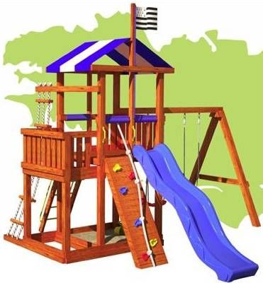 Brittany All Inclusive Wood Playset | Swing set ...
