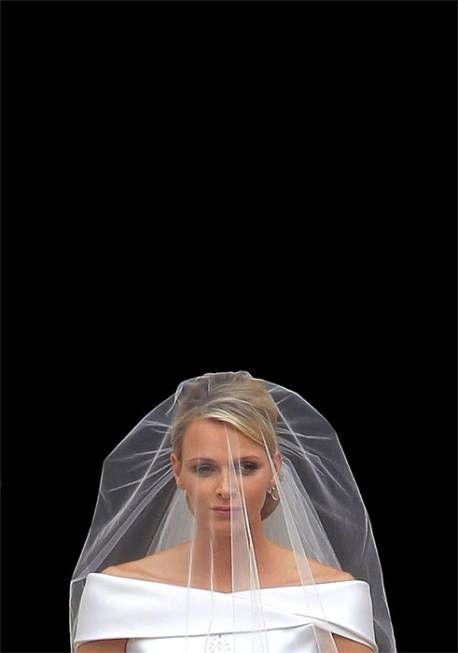 Charlene Wittstock on her wedding day to Prince Albert II of Monaco
