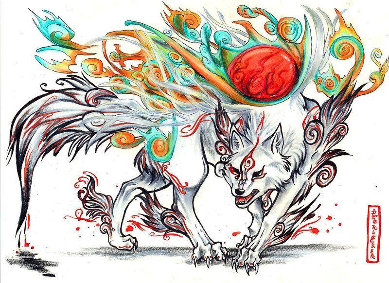 Shiranui Okami Okami Creature Art Amaterasu
