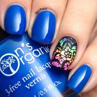 JayLynn C completes this fun and fab #nailart with a neon gradient accent and stamped on details. Click through to check out her must-haves.