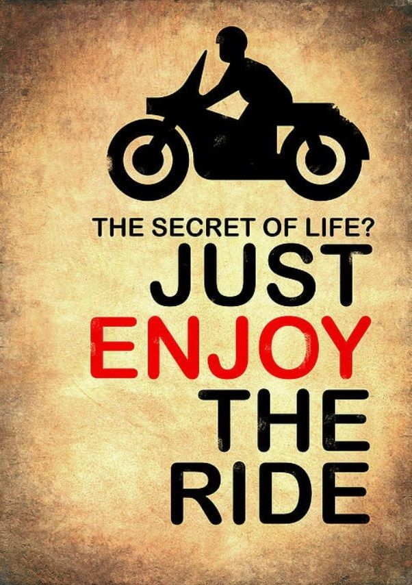 Just Enjoy The Ride Riding Quotes Motorcycle Quotes Bike Quotes
