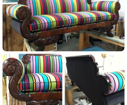 Rainbow Couch   Upholstered By U Fab Store, Richmond VA