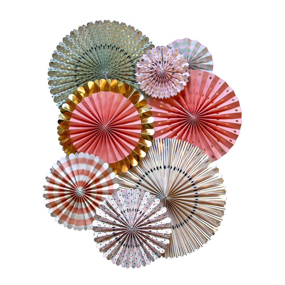 ABANICOS PAPEL €23.00 Image of Pack de Abanicos Papel Precioso set de 8 abanicos en diferentes estampados:  - 2 de 44 cm de diámetro  - 2 de 36 cm  - 2 de 28 cm  - 2 de 20 cm