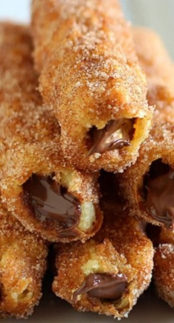Nutella Stuffed Churros