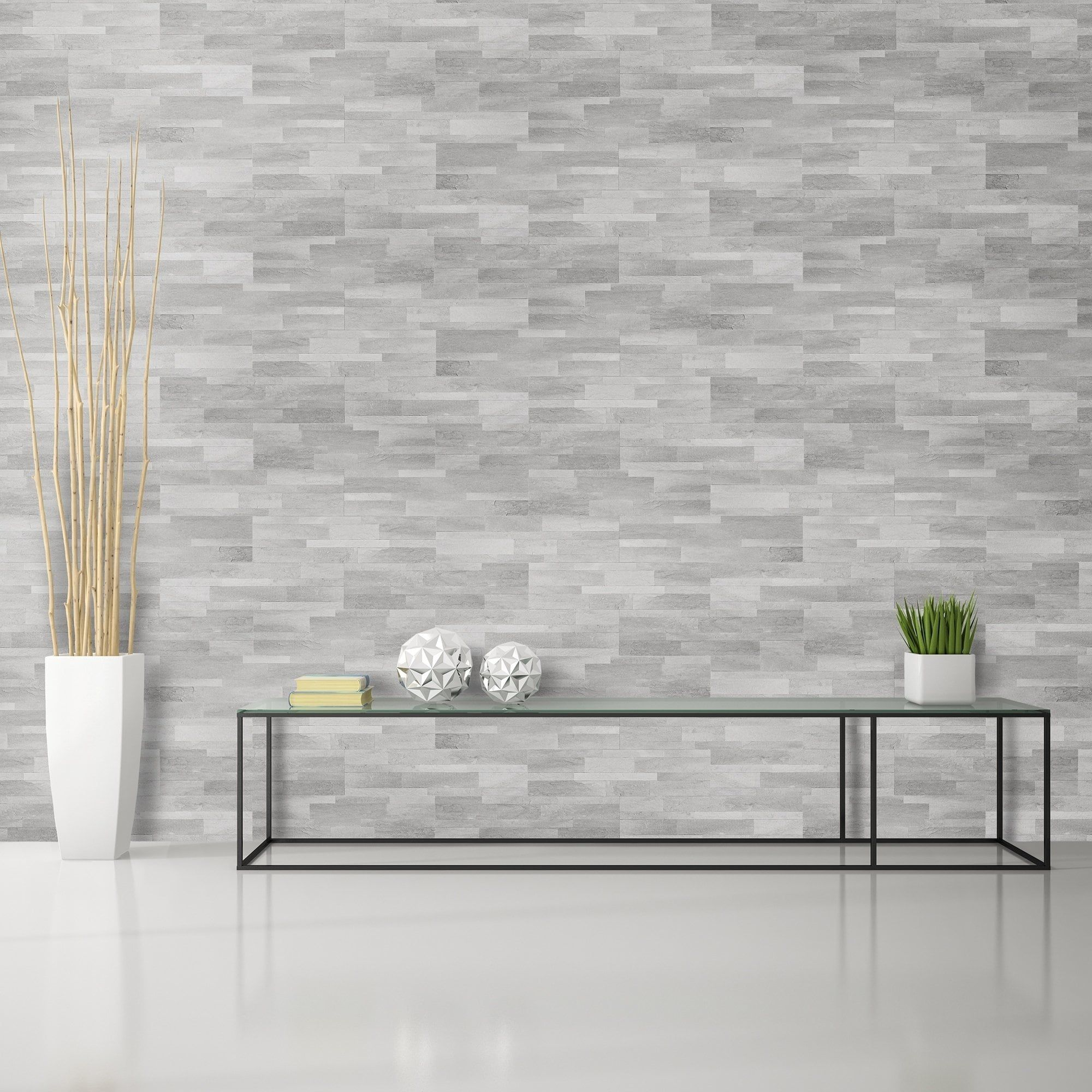 Bolder Stone 6in X 24in Self Adhesive Stone Wall Tile
