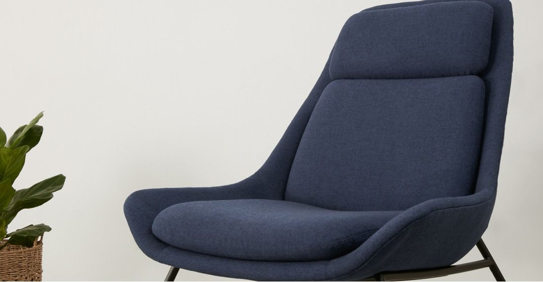 Best Eero Accent Armchair Flavio Blue With Images Accent 400 x 300