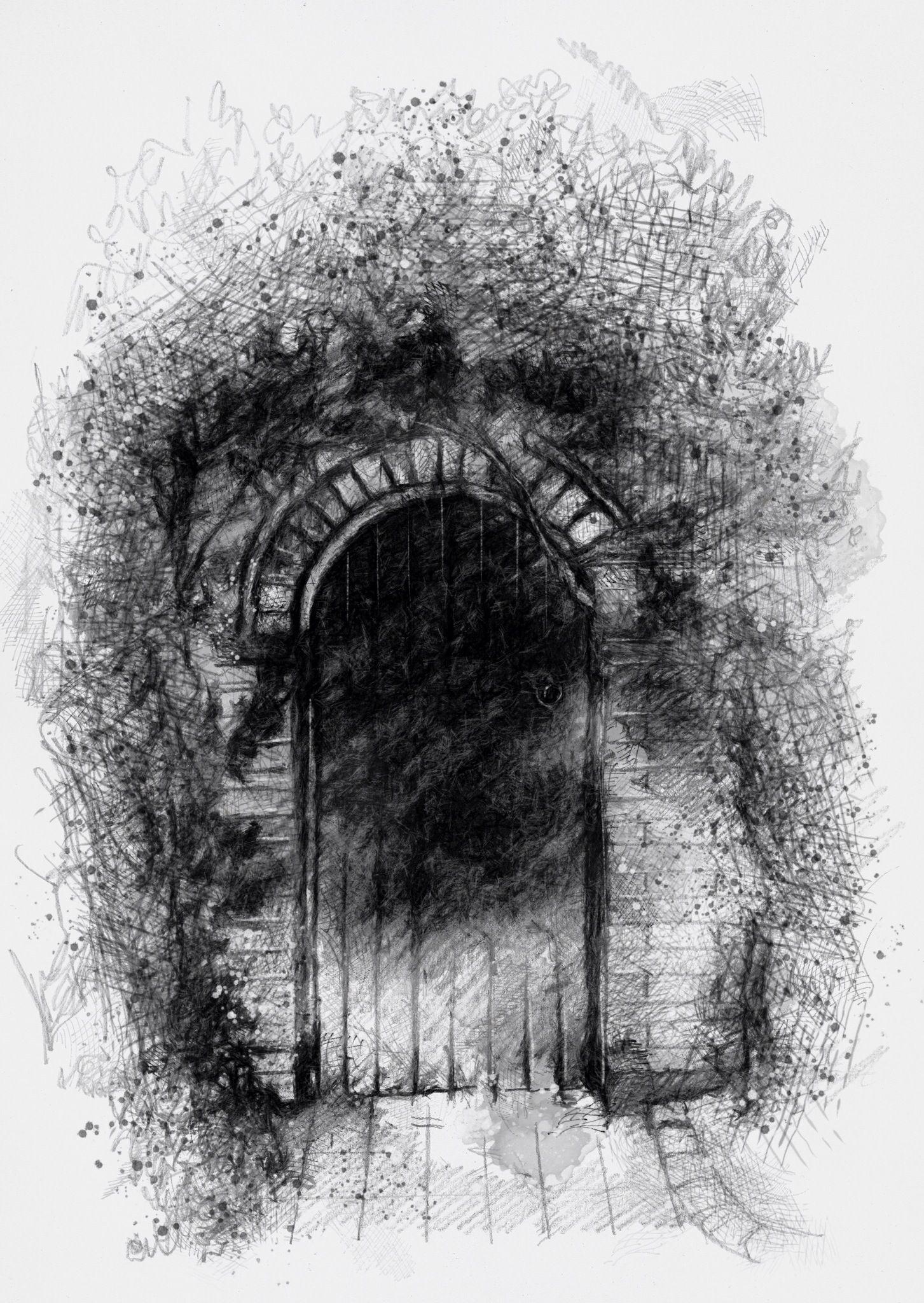 One of my sketch a day drawings Secret garden #door # ...