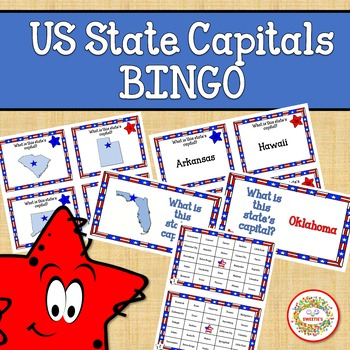 US States Bingo Game State Capitals (With images) Bingo