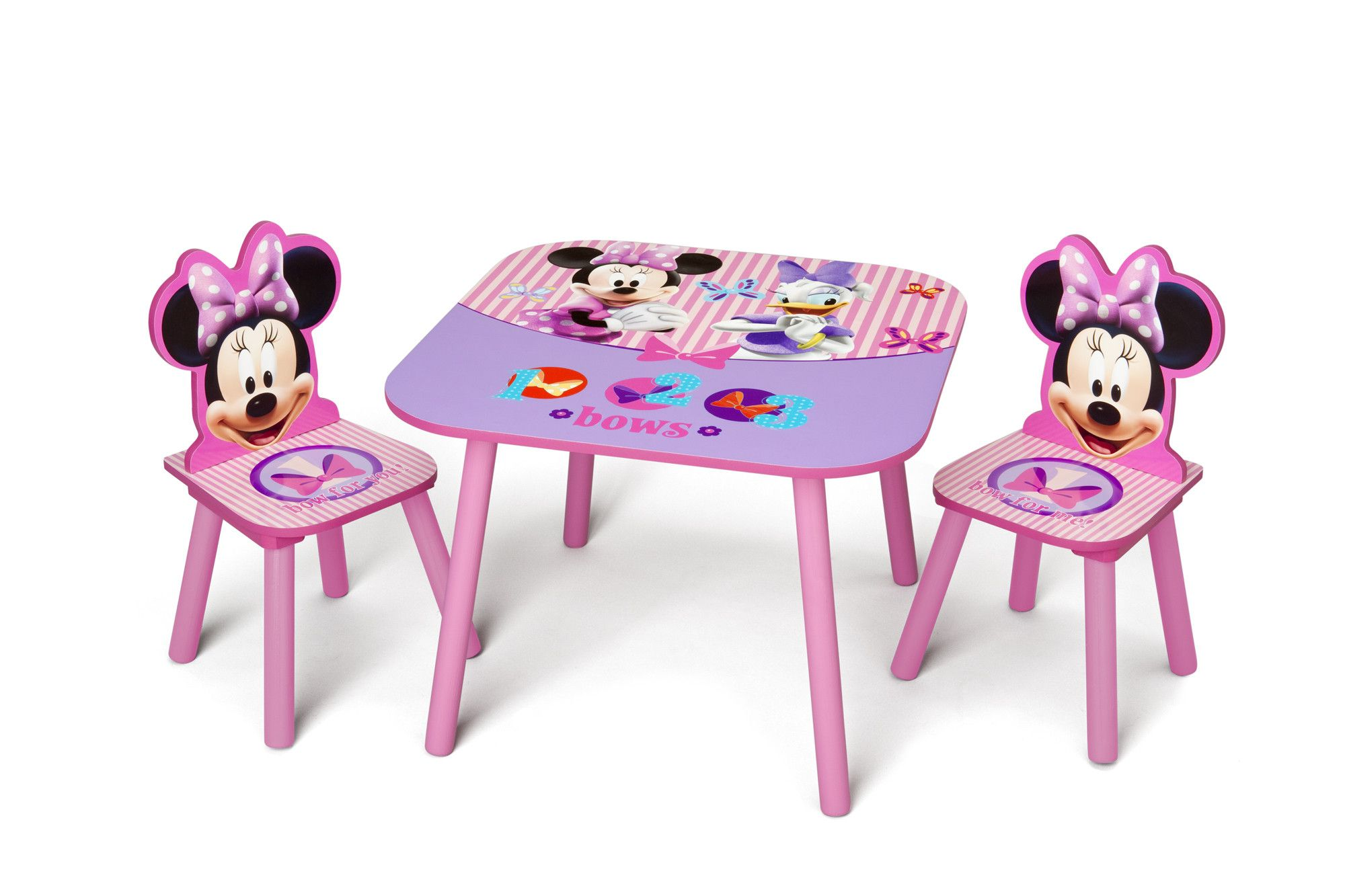 Minnie Mouse Kids 3 Piece Table And Chair Set Minnie Mouse Bedroom Kids Table And Chairs Disney Furniture