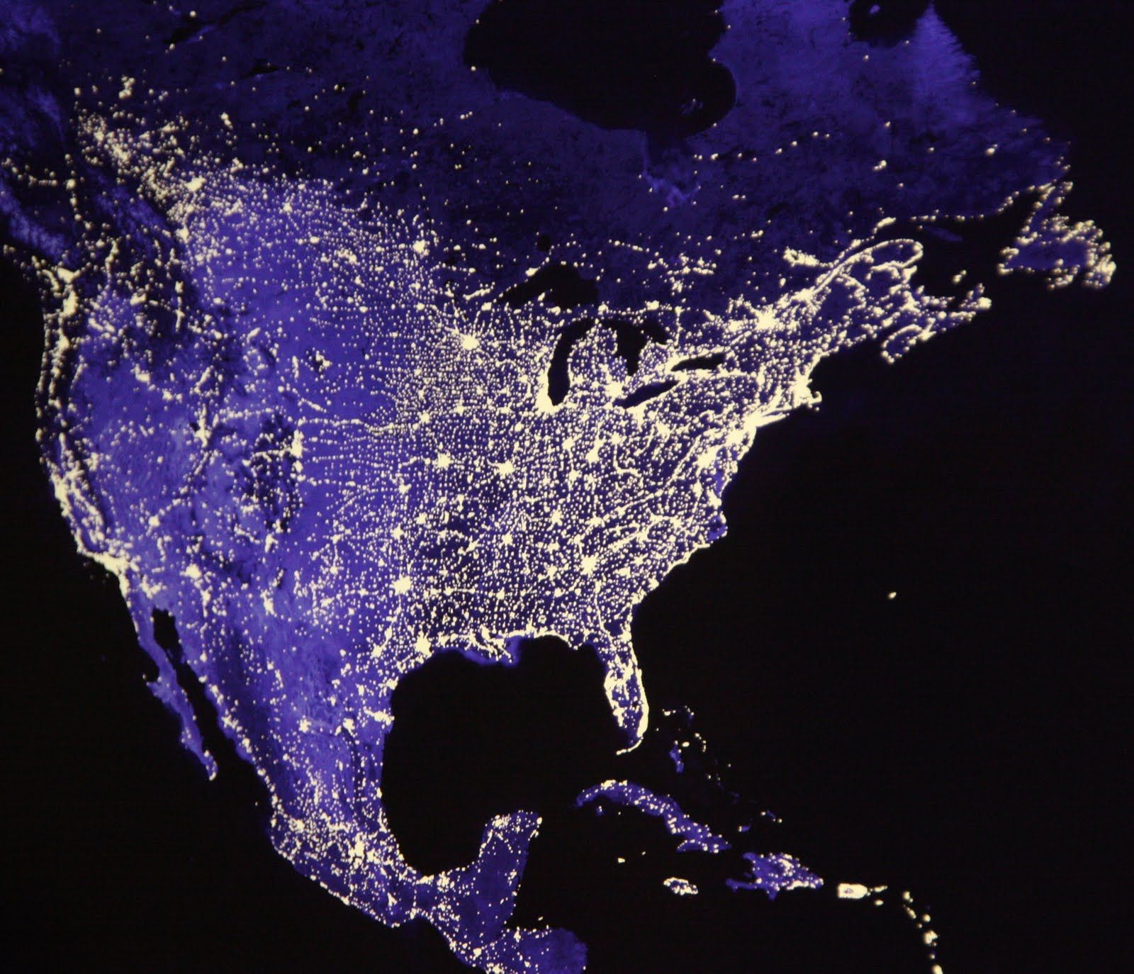 can you find the united states on a map North America at night | Stars and moon, Rocks and crystals