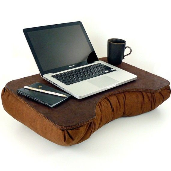 Large Brown Faux Leather Laptop Lap Desk By Lapdesklady On Etsy 54 95