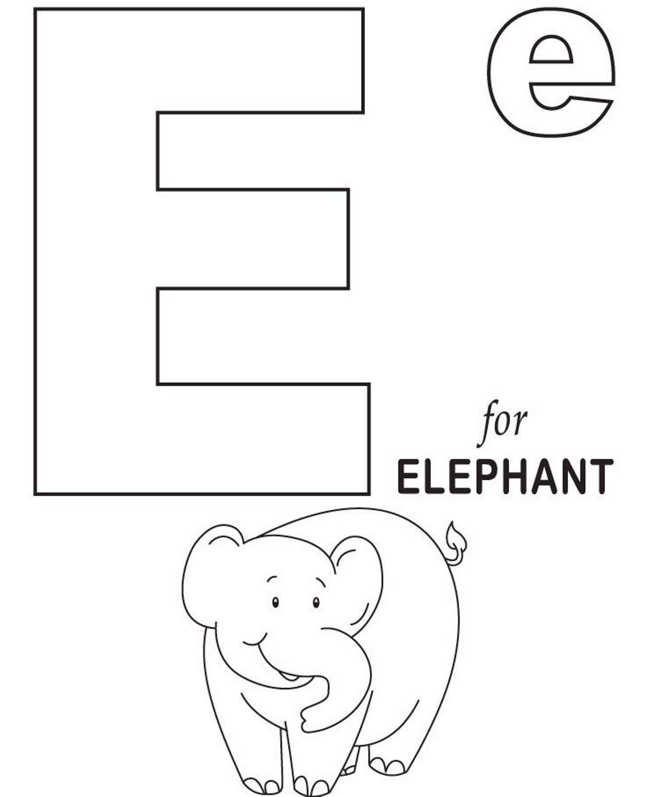 Alphabet coloring alphabet coloring pages free elephant alphabet