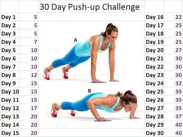 30-Day Push-Up Challenge | 30 day push up challenge - cause